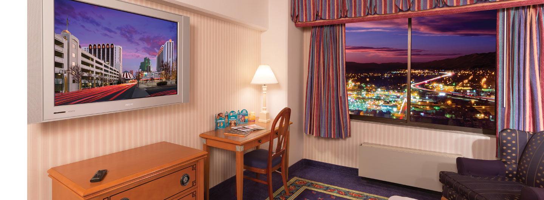 Beautiful Circus Circus hotel room in Reno, Nevada