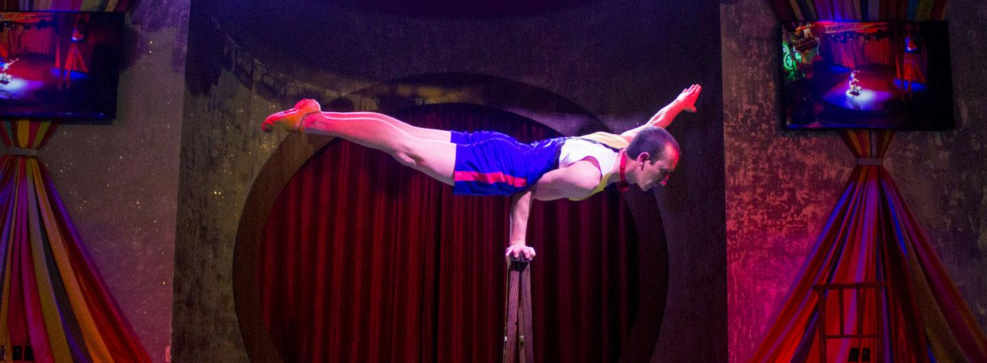 Acrobat performing at the Carnival Midway
