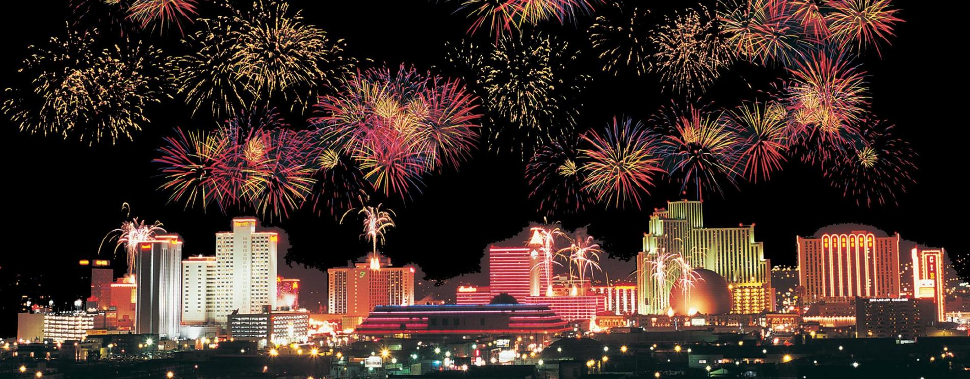 Fireworks over Downtown Reno for Terms & Conditions