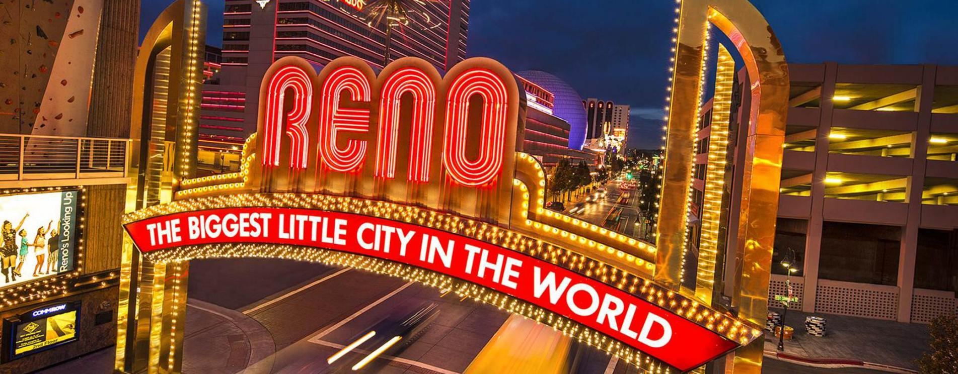 City of Reno downtown arch