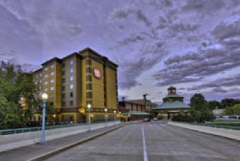 front of Isle of Capri Casino Hotel Boonville with hotel tower