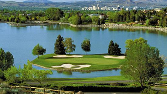 Lakeridge Golf Course with Downtown Reno in the distance
