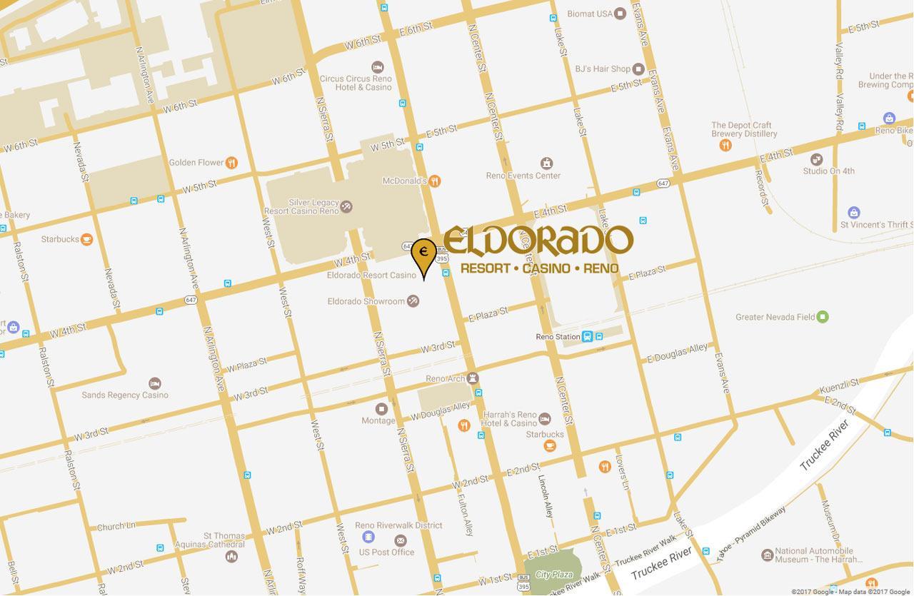 Eldorado Reno Resort Casino Eldorado Resorts - Reno hotels map