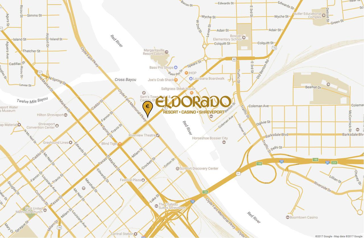 Map of Eldorado Resort Casino in Shreveport, LA
