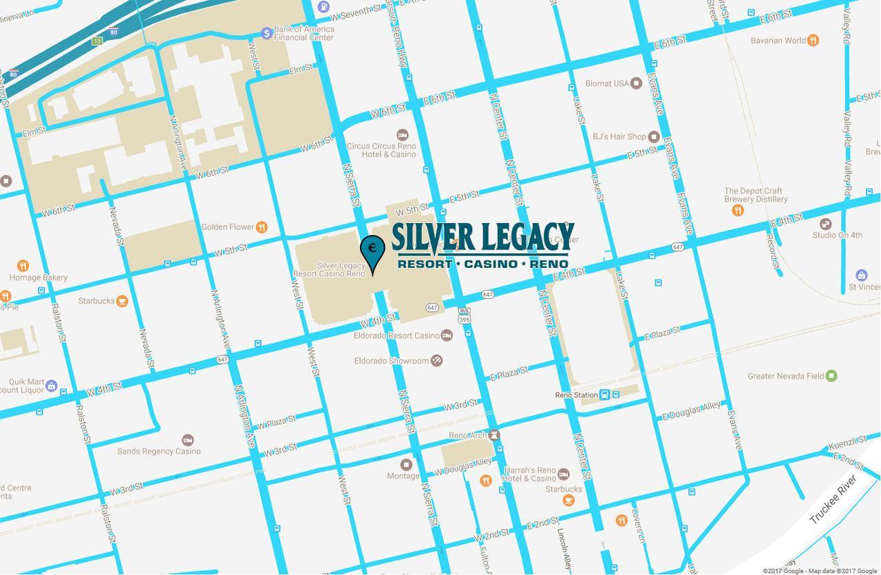 Silver Legacy Resort Casino Eldorado Resorts - Reno nevada casino map