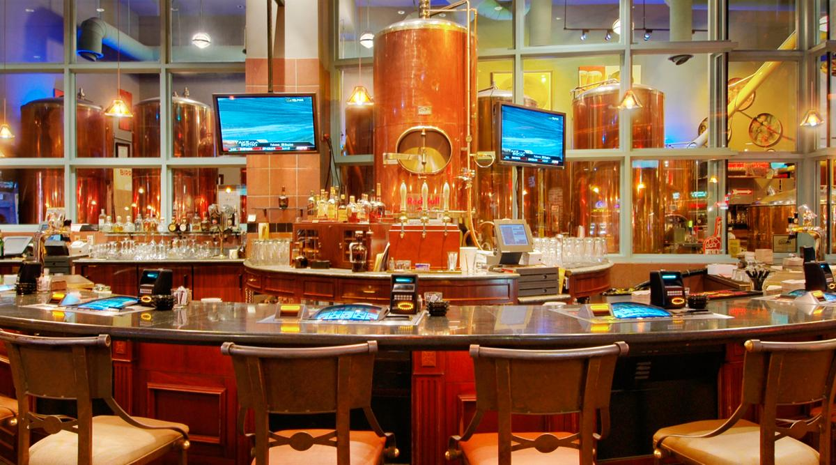 Looking towards the bar at The Brew Brothers