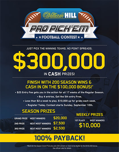William Hill Pro Pick'em Football Contest