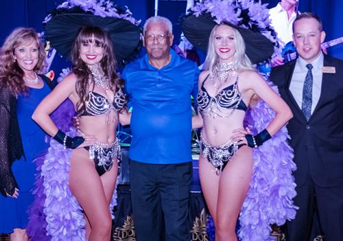 Mercedes Winner Herschel H. with Eldorado Show Girls and Casino Hosts
