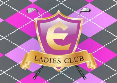 Ladies Club Pink Logo with Crossed Golf Clubs