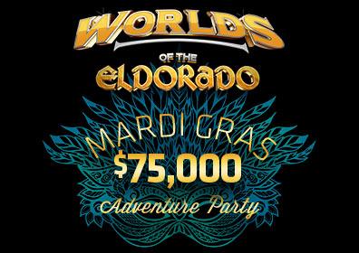 Worlds of the Eldorado Mardi Gras Logo