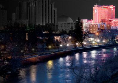Truckee River and Eldorado Lit up.