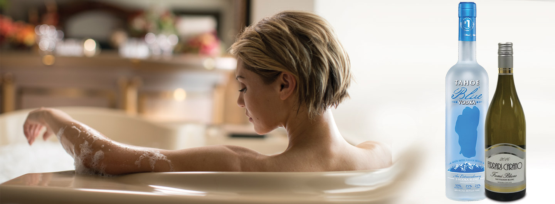Woman in bubble bath V2