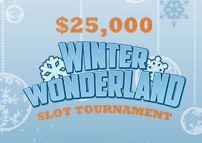 $25,000 Winter Wonderland Slot Tournament Logo