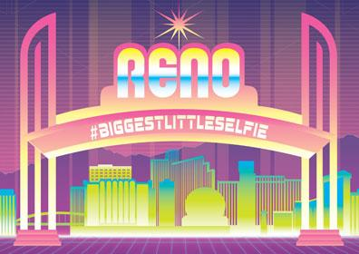 Reno Arch with #BiggestLittleSelfie hashtag