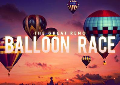 Dozens of Hot Air Balloons Floating over Reno
