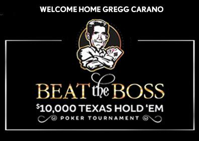 Beat the Boss Logo featuring Gregg Carano