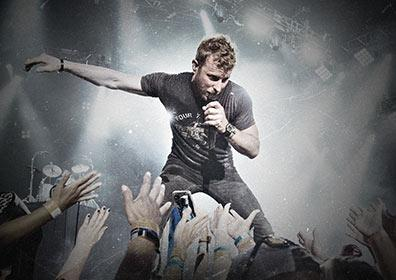 Dierks Bentley performing on stage
