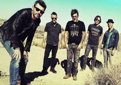Dishwalla band members posing
