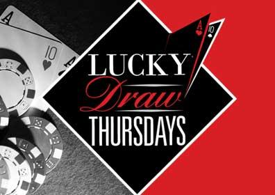 Cards and chips for the Lucky Draw Thursday casino event