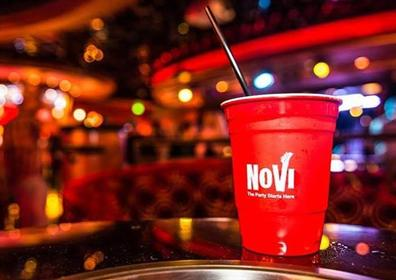 Red Cup inside NoVi Bar