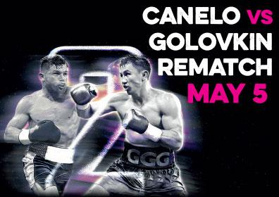 Canelo and Golovkin fighting in the ring