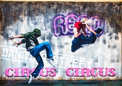 Mural Painting of Street Dancers