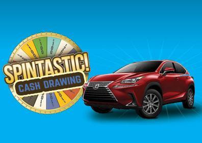 Spintastic logo with Lexus car