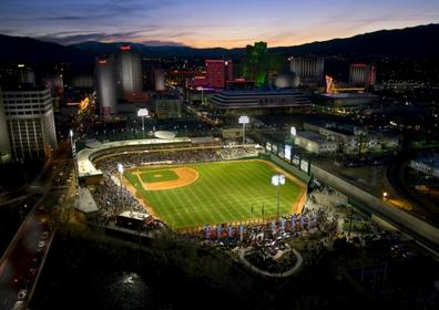 Looking towards Greater Nevada Field and downtown Reno