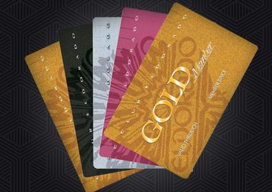 four different card levels for Club Eldorado
