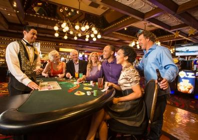 People playing table games at Eldorado Reno