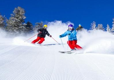 People skiing the Northern Nevada slopes