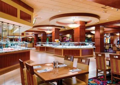 View of the Buffet Tables and Buffet Line