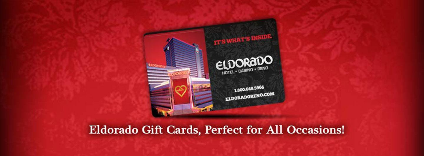 A gift card with text that says, Eldorado Gift Cards, Perfect for All Occasions!