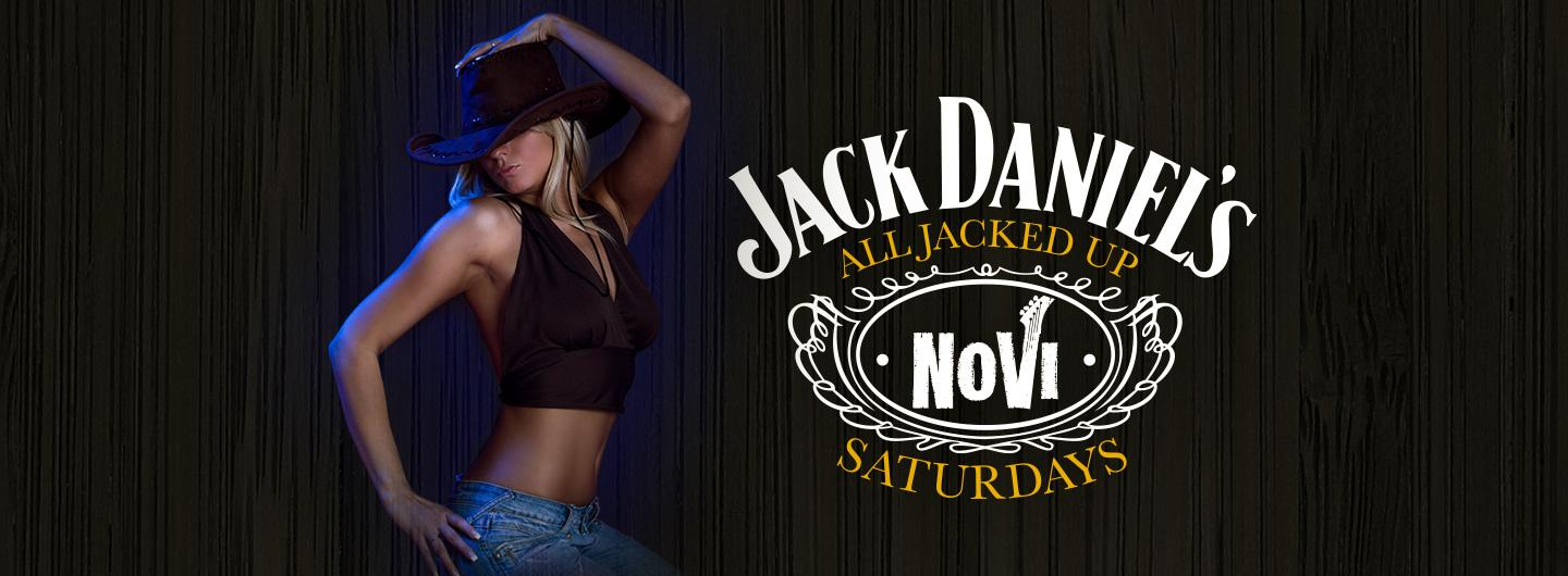 All Jacked Up Saturdays Logo with Girl in Cowboy Hat