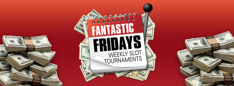 Fantastic Friday Slot Logo with Stacks of Money