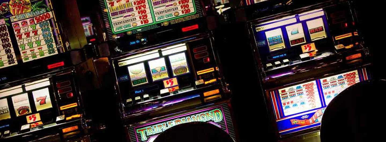 Closeup shot of Triple Diamond slot machines
