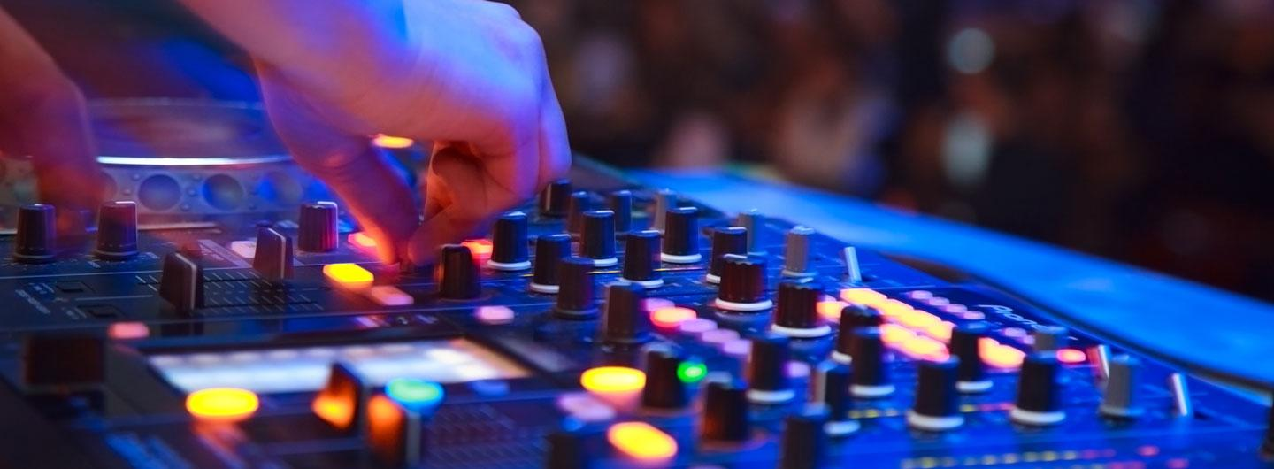 A DJ playing music for a crowd