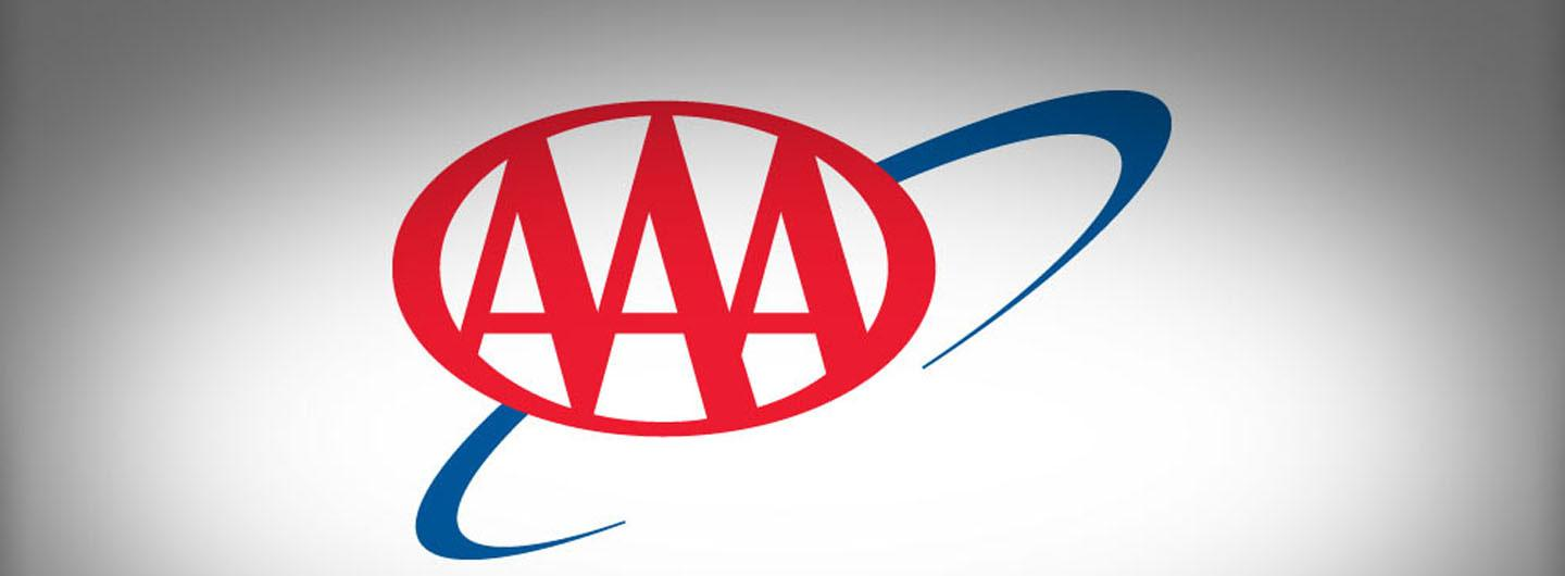 AAA logo on a gray background