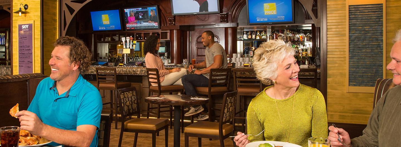 People enjoying Millies24 Bar