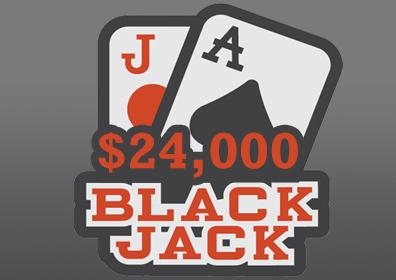 Advertisement for $24,000 Blackjack Weekly Tournament Series