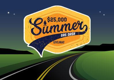 $25,000 Summer Gas Dash Giveaway