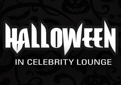 """Halloween in Celebrity Lounge"" text"