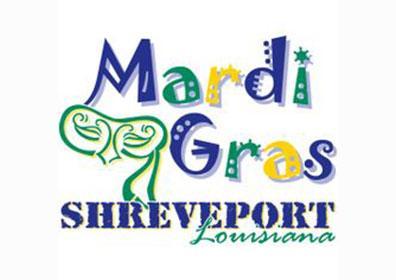 Shreveport Mardi Gras logo with mask