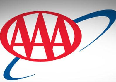 AAA logo on a white and grey background