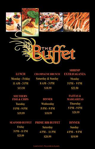 Main buffet menu weekly 7 days