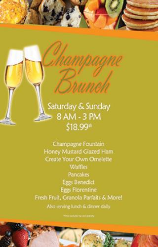 Buffet champagne brunch