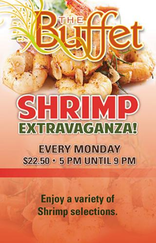 Buffet shrimp extravaganza