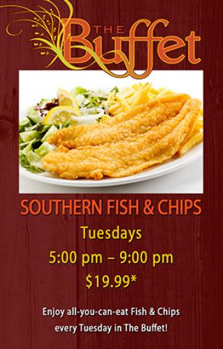 Buffet southern fish and chips