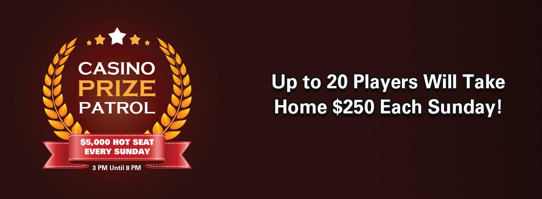 Casino Prize Patrol Hot Seat Giveaways