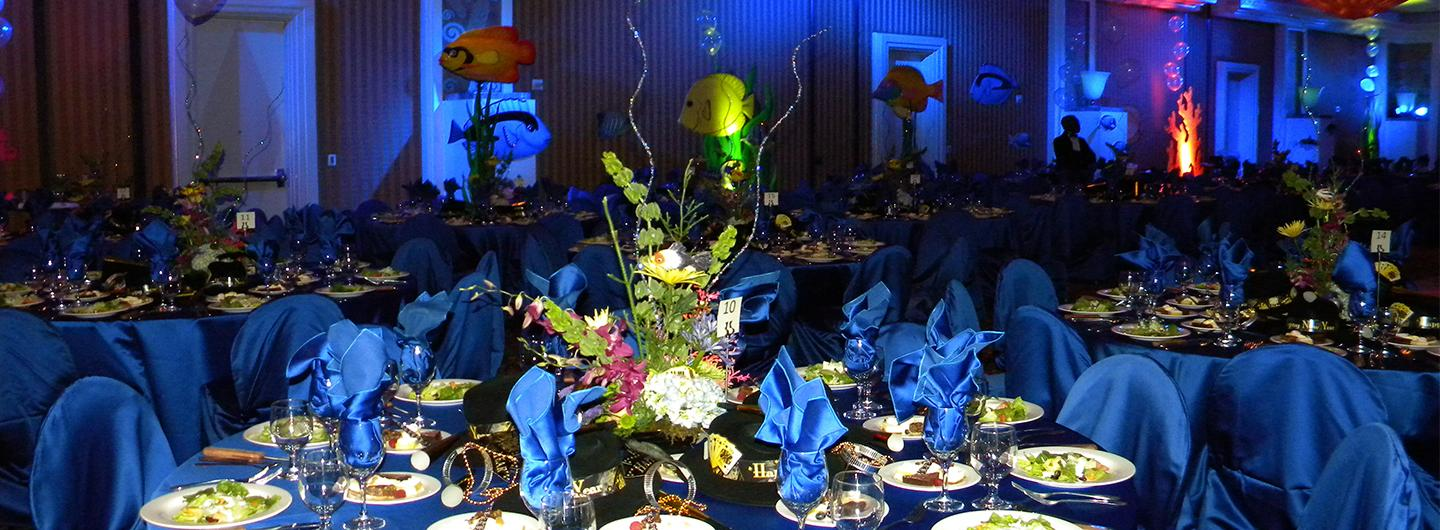 Under the Sea themed party in the ballroom